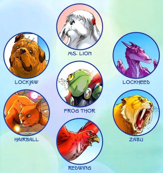 漫威英雄宠物组成复仇者,曾为龙族与正统复仇者大战