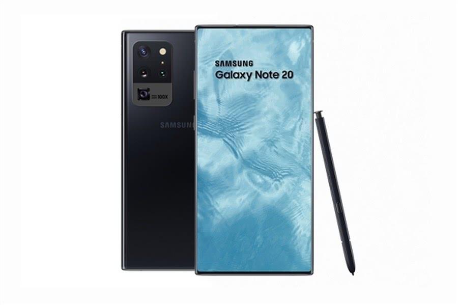 100%真全面屏?三星Galaxy Note 20首曝:视觉效果超震撼