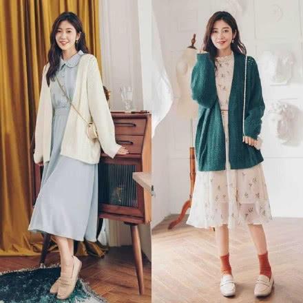 这才是30岁女人该有的样子!外套+连衣裙,遮肉显瘦,谁穿谁美