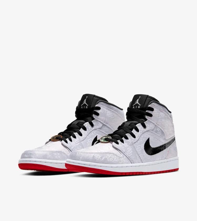 """新鞋发售:冠希哥""""白丝绸""""Air Jordan 1 Mid 下周发售!"""