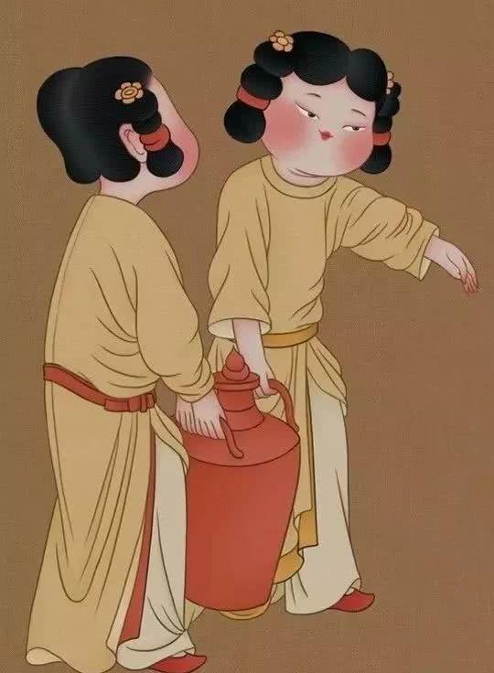 在她的笔下,所有女孩都是符合唐朝审美的胖美人.图片