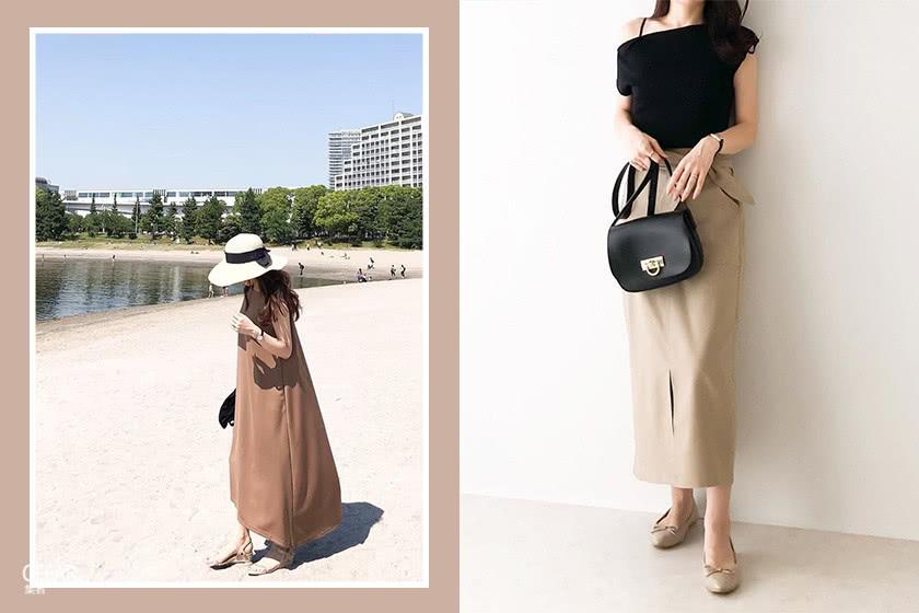 想找裙装搭配灵感?这位日本女生完美演绎了娇小身材的长裙造型!