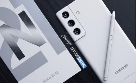 三星NOTE 21 FE渲染圖曝光,打孔直屏+矩陣三攝,支持手寫筆