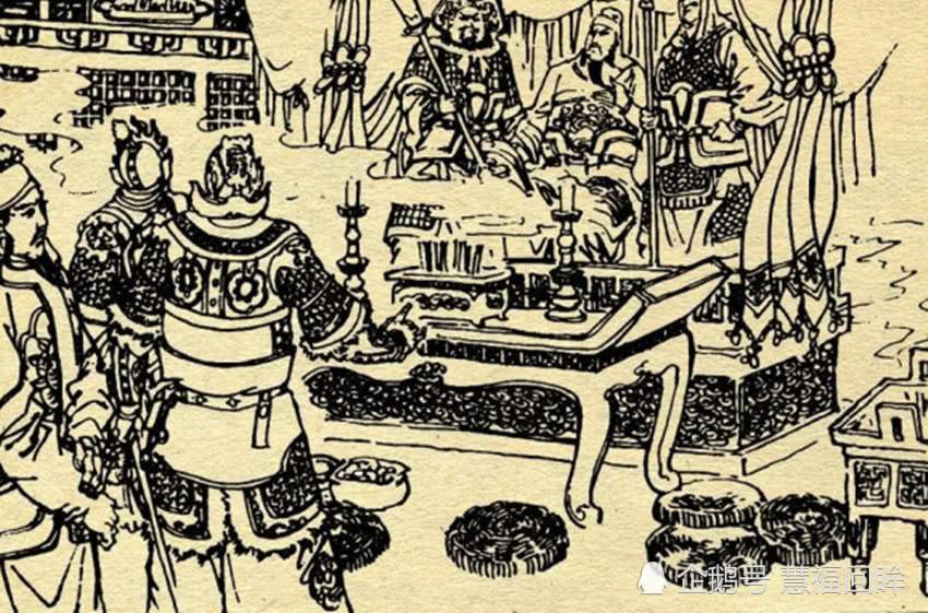 宇文成都进关帝庙,见周仓像握大刀,他一碰供桌,周仓落刀就劈他