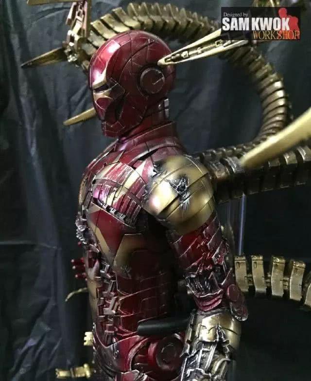 模玩控:托尼史塔克钢铁侠Mark 5模改钢铁蜘蛛侠战衣