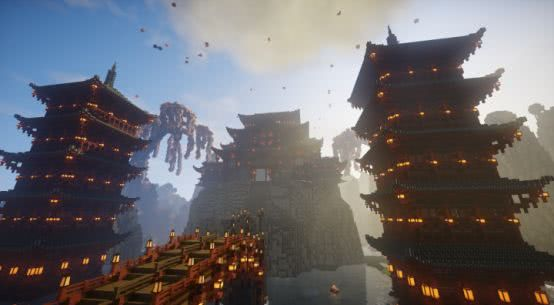 外国大神疯狂迷恋中国小说 竟在《我的世界》中造出剑侠江湖