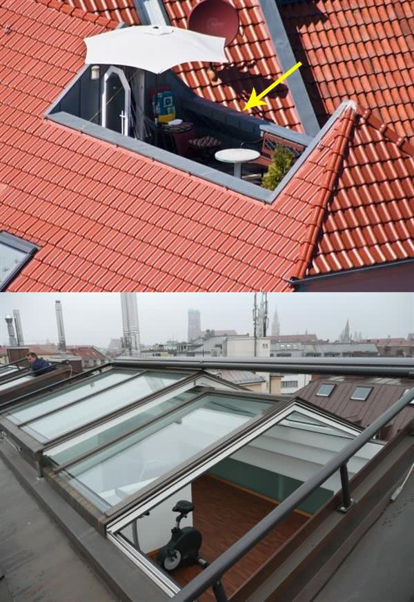 """外国人在阁楼屋顶用""""障眼法"""",露台直接夹中间!开发商都没想到"""