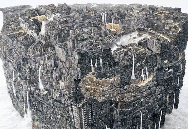 日本一画家3年画了一幅画,网友:放大10倍,5天都看不完