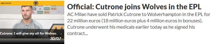 米兰青训无望?2200万就将库特罗内卖给了英超球队