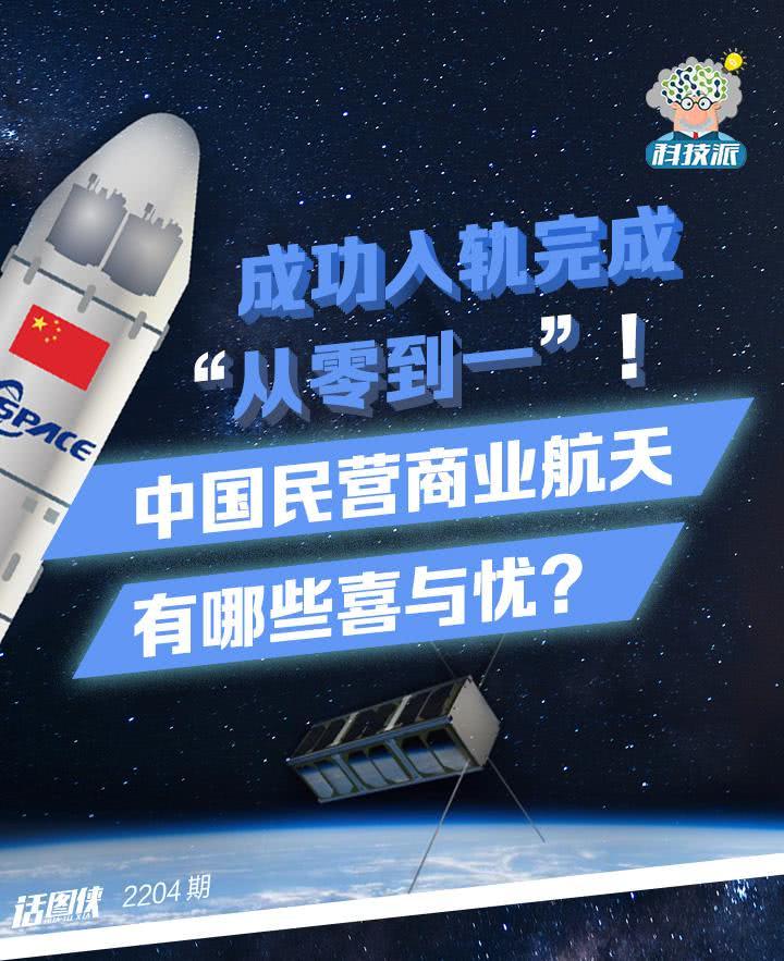 """成功入轨完成""""从零到一""""!中国民营商业航天有哪些喜与忧?"""