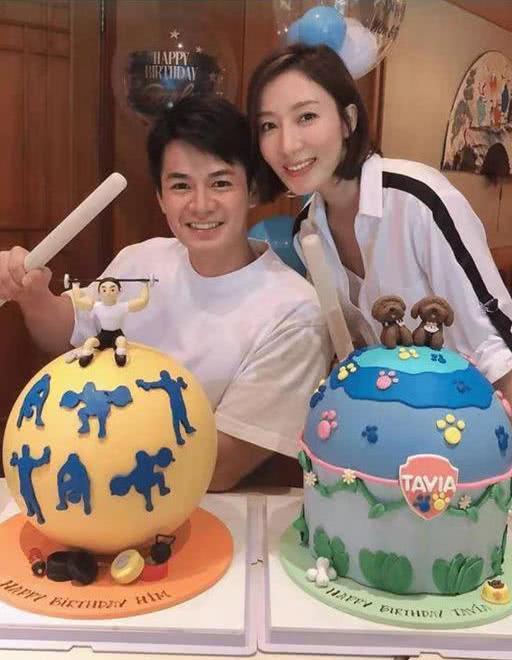 TVB视后同老公同一天庆生 童心未泯首次体验最流行糖果蛋糕