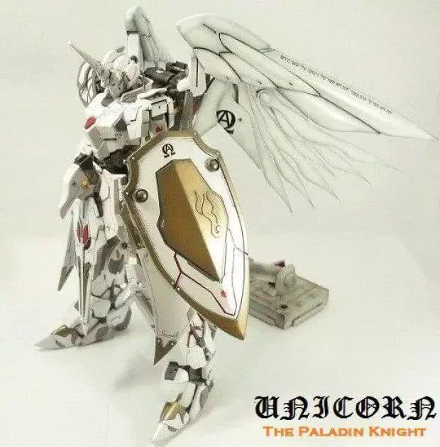模玩控:白色圣骑士独角兽高达改