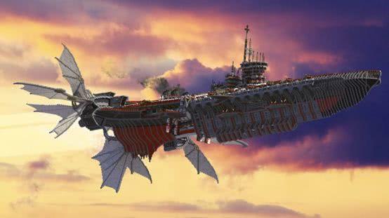 尺寸无极限《我的世界》大神制造恒星级飞船 内部能装下两个地球