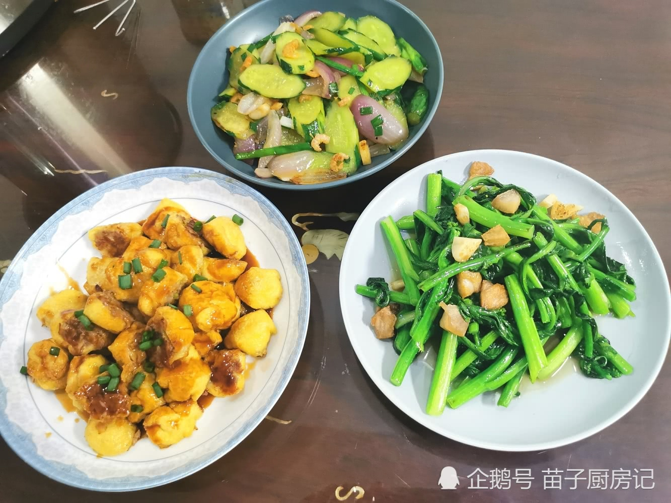 3口人的晚餐,豆腐泡这样做酸酸甜甜,开胃消食,全家给赞
