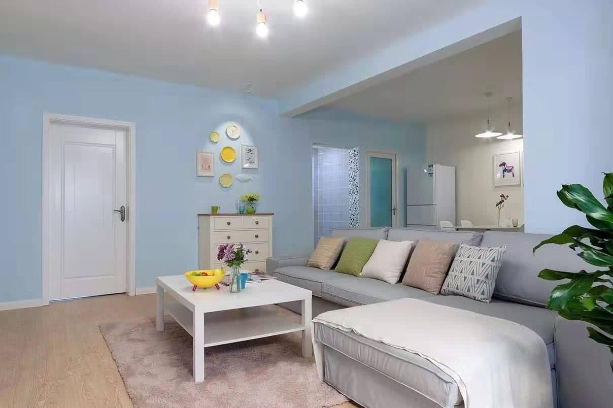 太爱了,蓝色调为主的墙,打造清新浪漫的家
