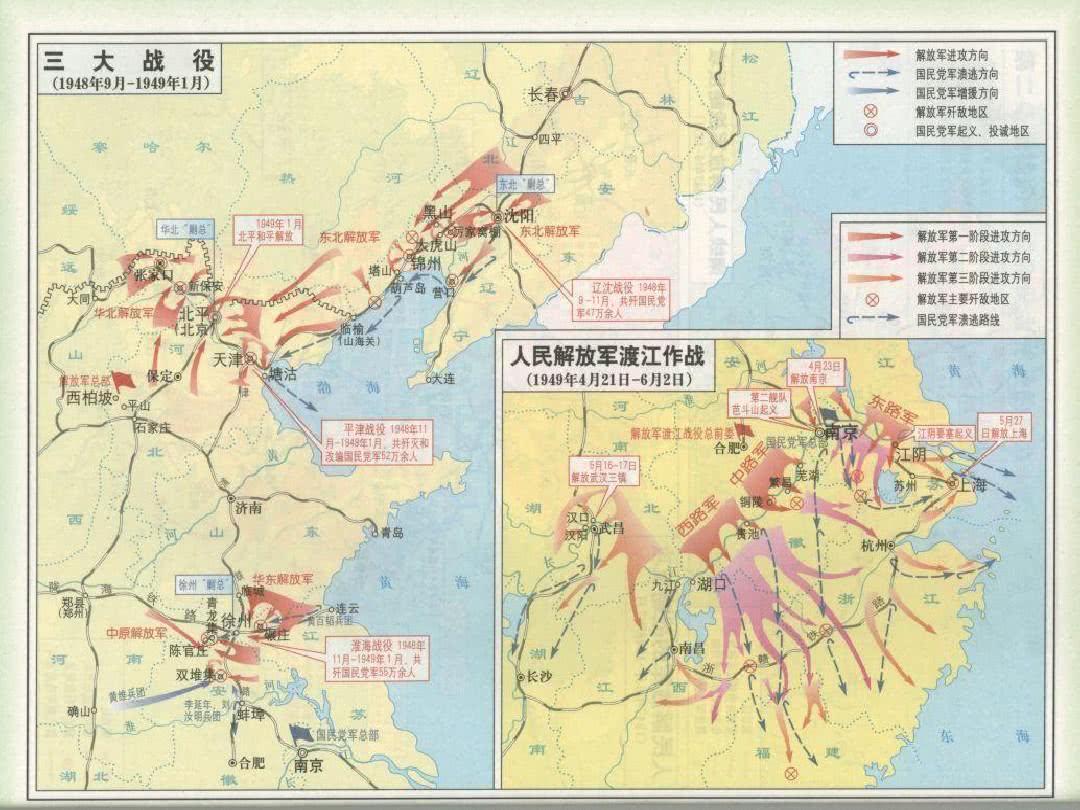 西野、中野、华野、东野各成立于何时,最初几个纵队