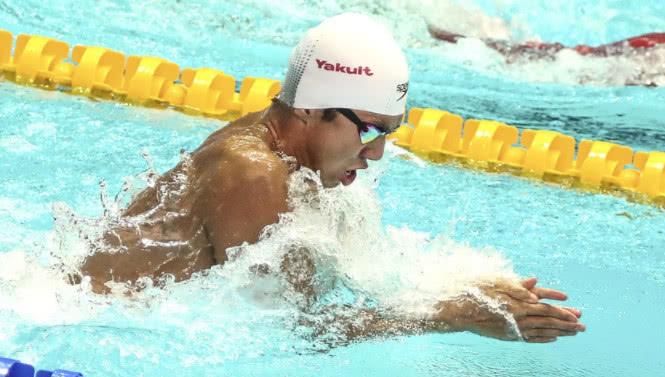 26秒86!闫子贝平亚洲纪录,获得50米蛙第七,亚当皮蒂冠军