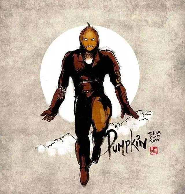 模玩控:创意复仇者联盟插画,钢铁侠变成了稻草人,奇异博士变成了吸血鬼