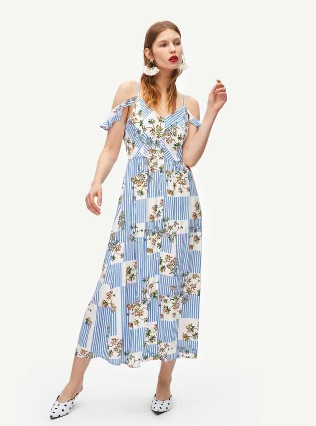 夏季吊带连衣裙,穿出清凉优雅感