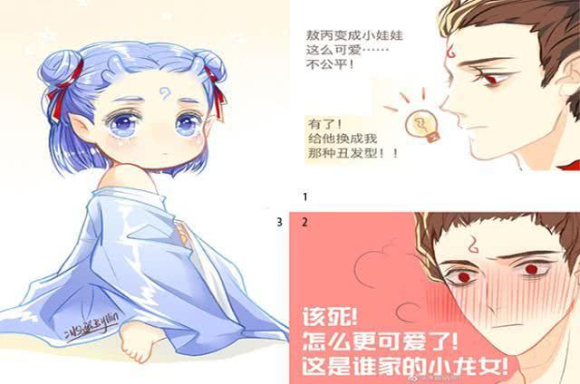 哪吒魔童降世:敖丙换上哪吒的丑发型,太可爱被误认为哪吒的孩子