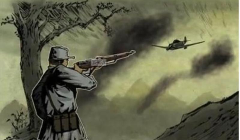 八路军神枪手,面对日军的挑衅,他用步枪打下日军飞机