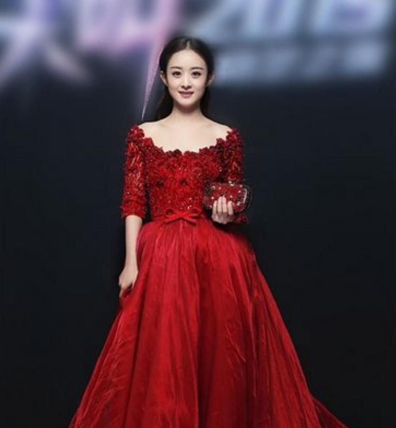 有一种不可方物叫赵丽颖穿红纱!当镜头拉近十倍,网友集体看呆!