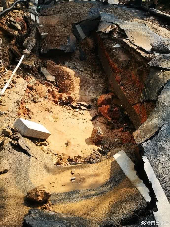 南昌一水厂水管破裂全厂停产,正全力抢修!你家停水了吗?