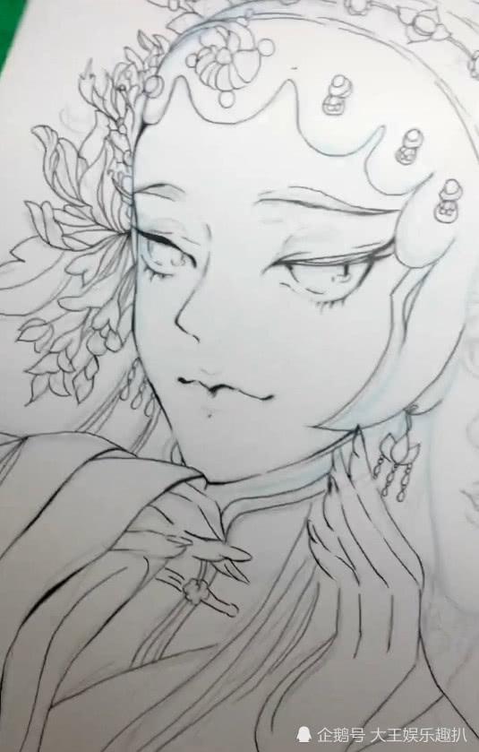 美术生水彩戏风女子,线条柔美受追捧,网友:宛如仙女下凡