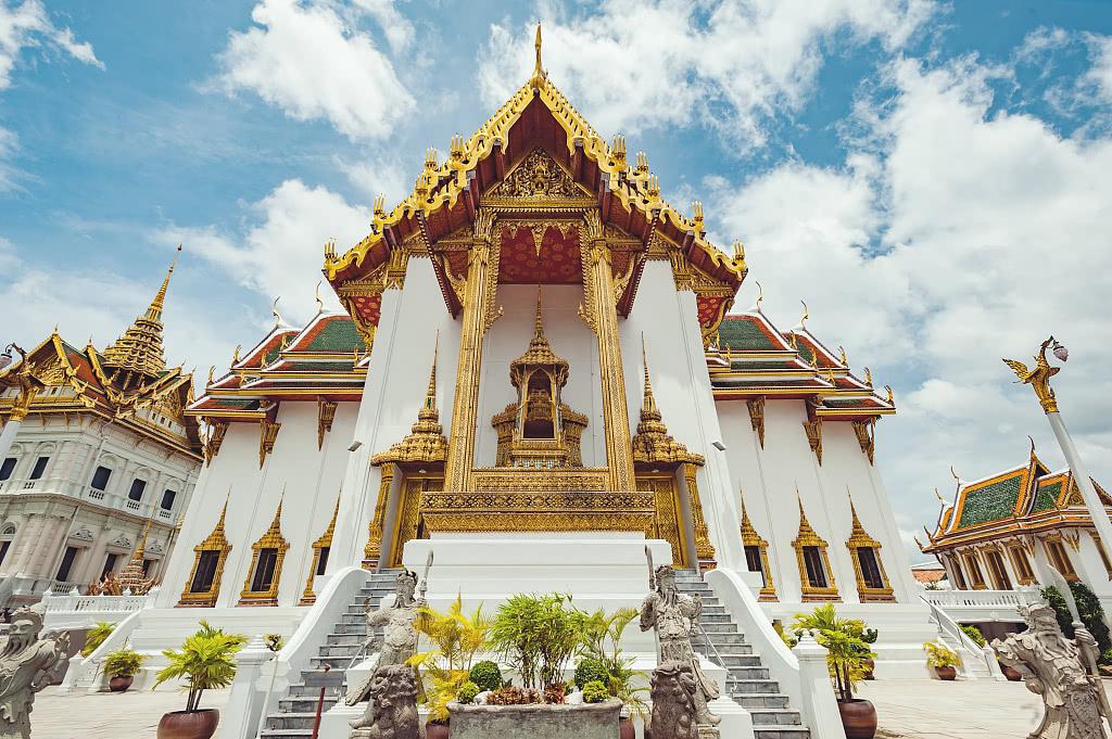 魅力十足的泰国大皇宫,曼谷王朝的象征,宫殿与寺庙艺术结晶
