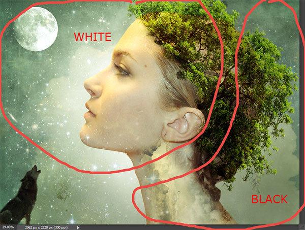 ps教程:合成人物与自然完美融合的多重曝光人像