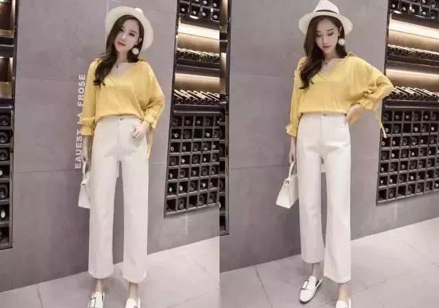 """<b>今夏最火的""""白裤子"""",搭配这5款上衣,清爽舒适又减龄有范儿!</b>"""