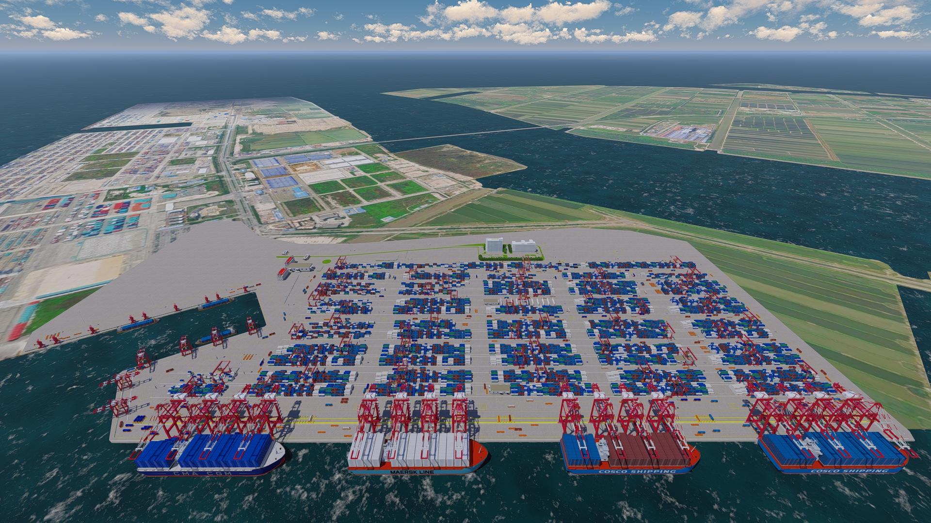 振华重工建粤港澳大湾区首个全自动码头,首创智能导引车运输