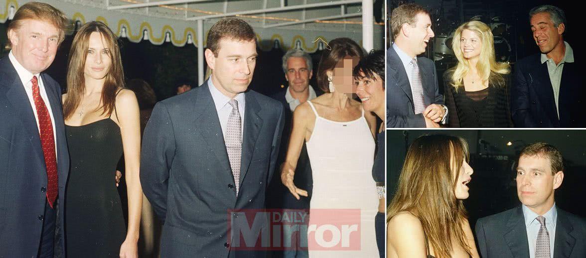 英媒独家披露特郎普、安德鲁王子与爱泼斯坦合照,王子难洗白自身