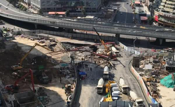 厦门地铁2号线吕厝路口地面塌陷,不久前通过运营前安全评估