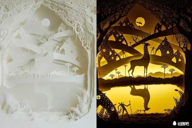 奇幻立体纸雕灯箱作品——来自艺术家夫妻hari&