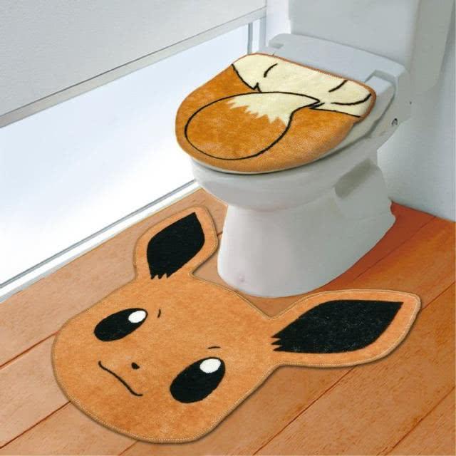 日本推出《宠物小精灵》伊布同款马桶垫