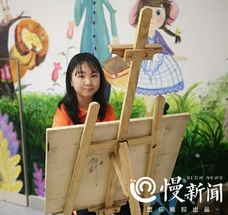 爱用画笔勾勒山城美景,重庆10岁女孩画千厮门大桥获全国一等奖