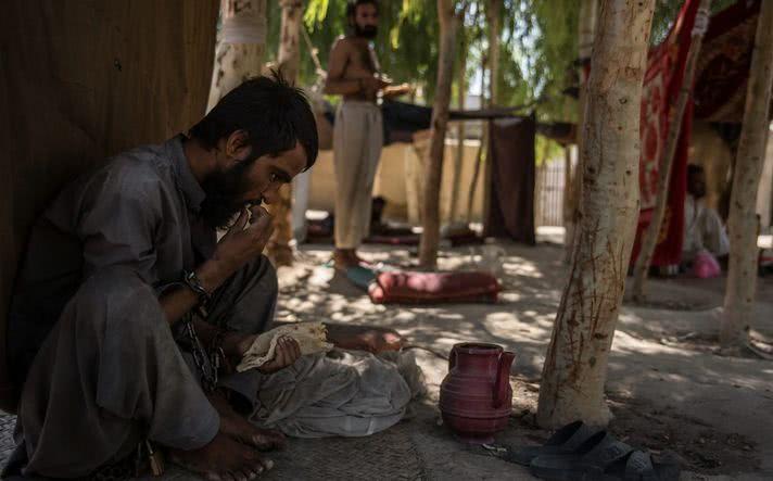 在阿富汗,拴在树上40天就可以治好精神病