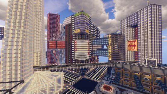 <b>《我的世界》4座赛博朋克城市 用掉的方块加起来能造就亿万富翁</b>