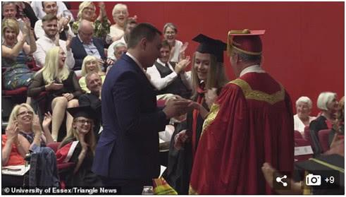 <b>英国小伙在女友毕业典礼上求婚,却被女权主义者盯上</b>