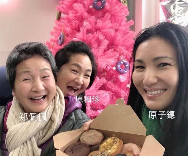 73岁郑佩佩与女儿同框,头发花白气色好,优雅自然的老去!