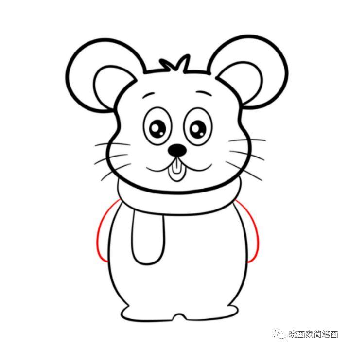 简笔画|鼠年可爱小老鼠简笔画教程图解