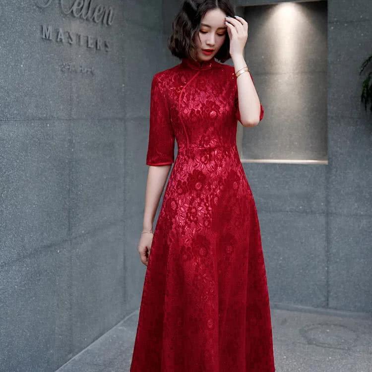 白羊座女性专属旗袍,火辣辣的红色很诱惑!