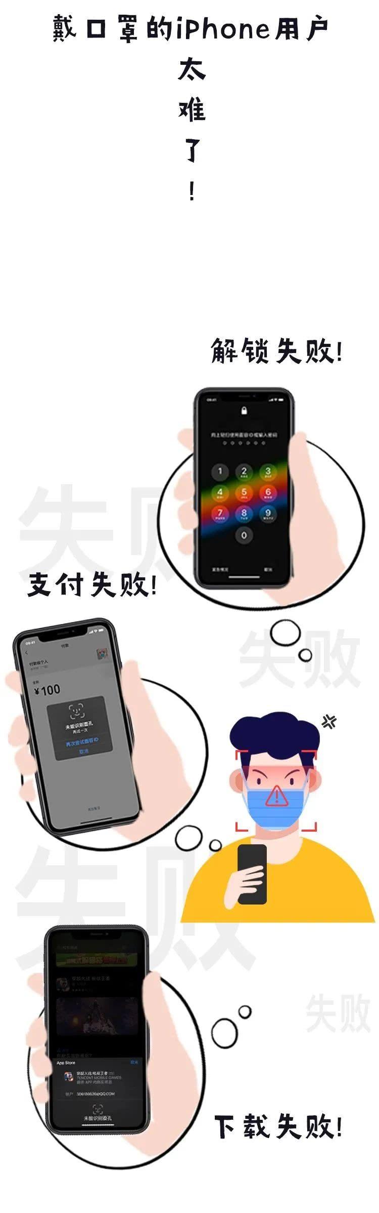 教你戴着口罩,也能解锁 iPhone的Face ID!