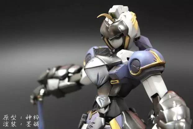 模玩控:MG飞翼高达模改有呆毛的saber机器人