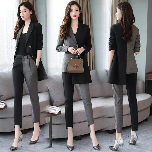 秋季淑女休闲套装,知性优雅两件套的设计,穿搭出都市女性魅力