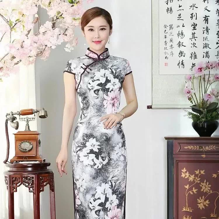 水墨中国风旗袍,端庄风韵,精品妈妈装!