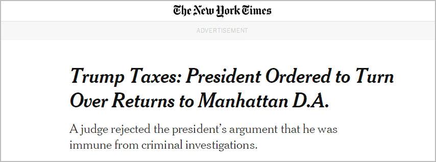 纽约法官裁决:特朗普需提供过去8年税单