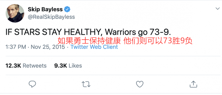 神预言:73胜勇士竟15年就被猜中,中国网友5个预言中3个
