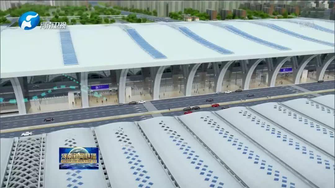 郑州南站站房主体结构施工全面展开